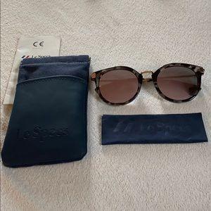 Le Specs Mirrored Sunglasses w/ Case